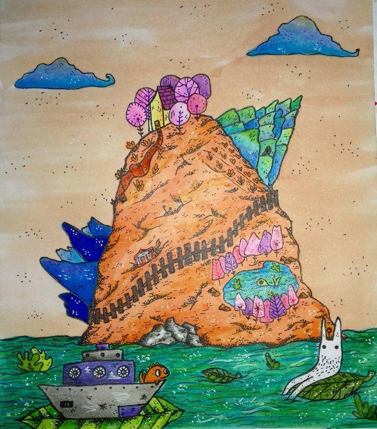 "58 Me gusta, 3 comentarios - Ñaña (@ferniska) en Instagram: ""#doodle #dibujo #draw #dessin #copic #copicmarkers #illustratedgirl #illustration…"""