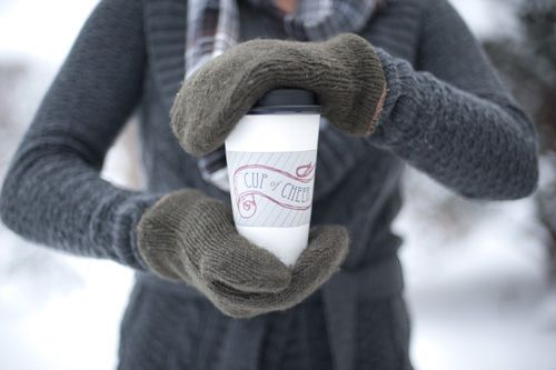 """Coffee cup wrap """"Cup of Cheer"""""""