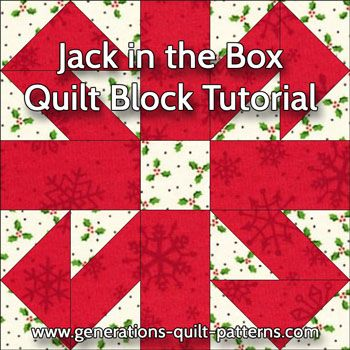 Jack in the Box tutorial. Includes instructions in 3 sizes for both paper piecing and connector corners.