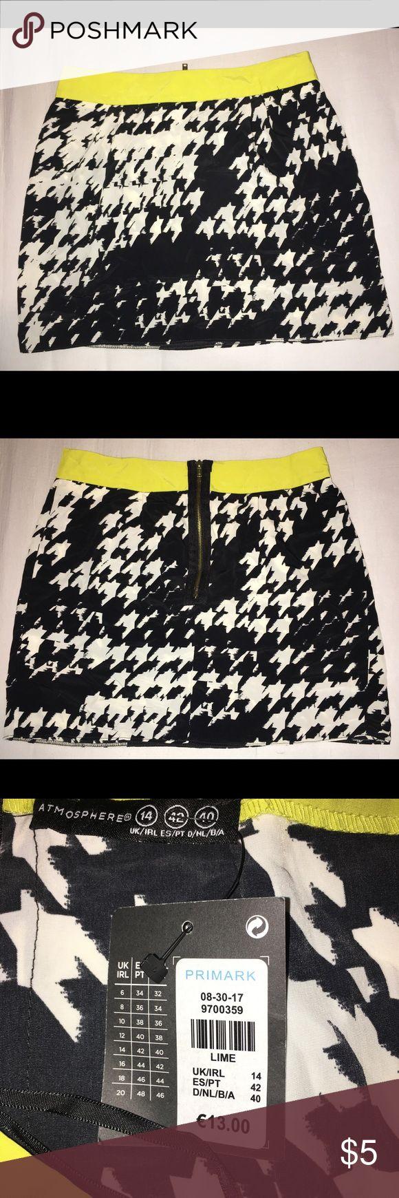 Black, white and lime green skirt Brand new skirt from Primark. Never worn primark Skirts Mini