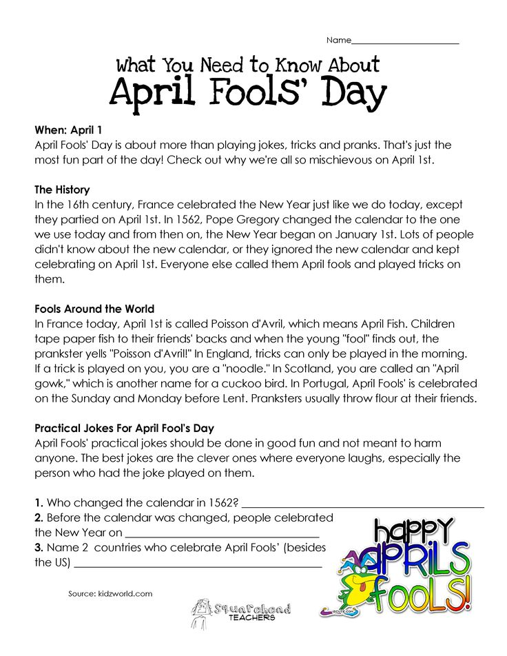 It wasn't until I taught in China that I even had to think about why we do April Fools' Day. My Chinese students thought this was a pretty funny idea, and were amazed that so many peopl…