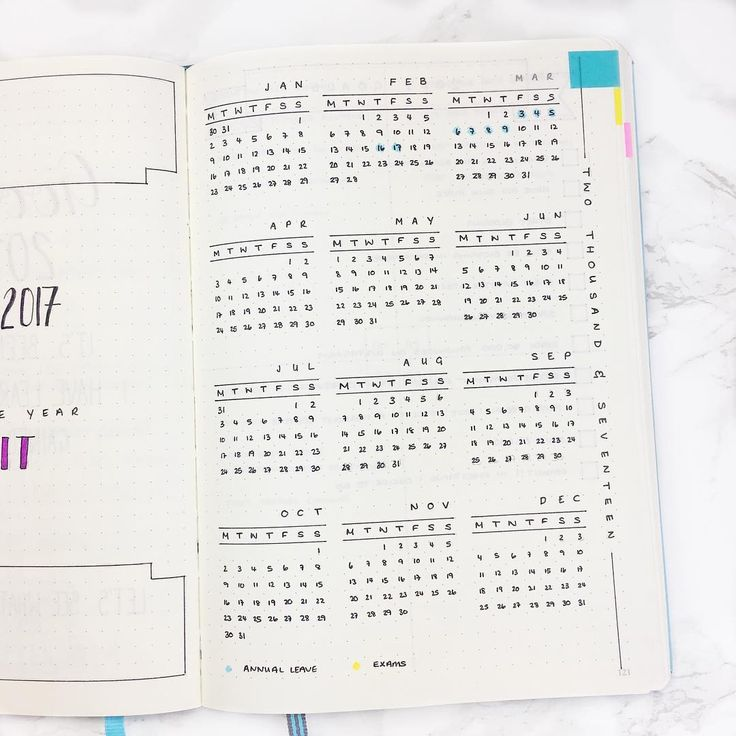 Dot Calendar Bullet Journal : Best bullet journal year at a glance ideas on