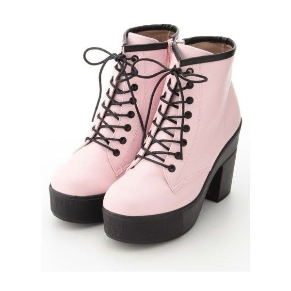 Misaki, Future Punk Trend Spotter | Spot Pop Fashion ❤ liked on Polyvore featuring shoes, fluorescent shoes, neon shoes, polka dot shoes, punk shoes and grunge shoes