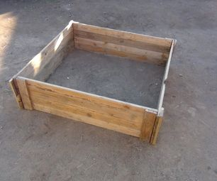 This is a really cool DIY idea on how to make a raised bed garden box from wood pallets. Hope on www.gumtree.com.au and have a look. You can usually pick up old pallets for $5 - $10