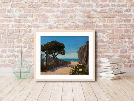 To the beach Seascape Art Print Original Art Print by MaritimArt