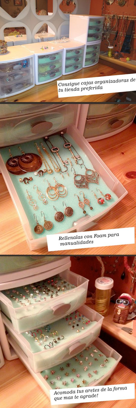 Super chic and inexpensive way to store all your great jewelry!