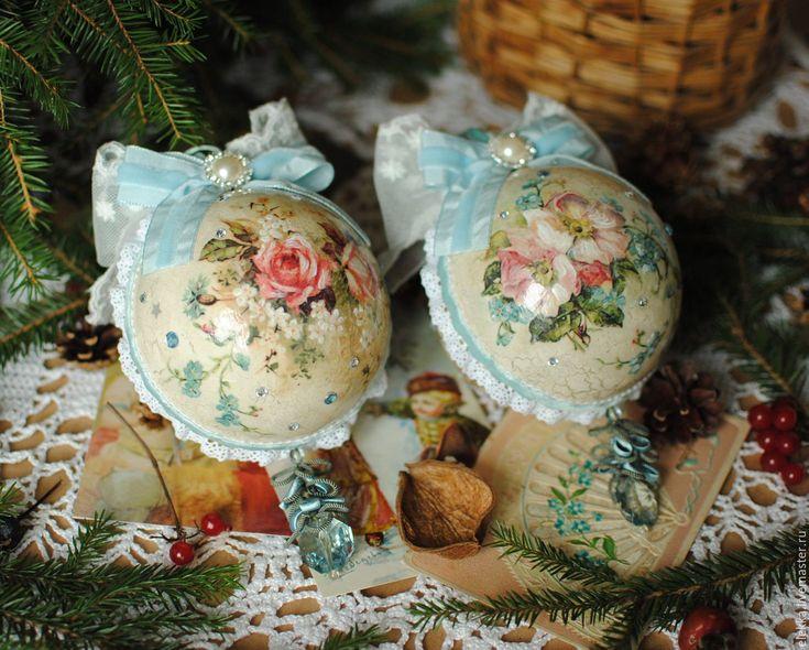 """Купить Шары """"Нежность"""" - Новый Год, новогодний подарок, новогодний сувенир, новогодний декор"""