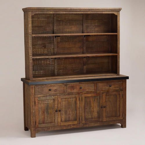 Clayton Rustic Sideboard With Hutch