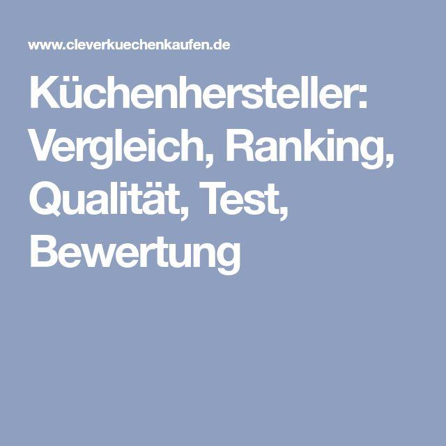 Küchenhersteller: Vergleich, Ranking, Qualität, Test, Bewertung