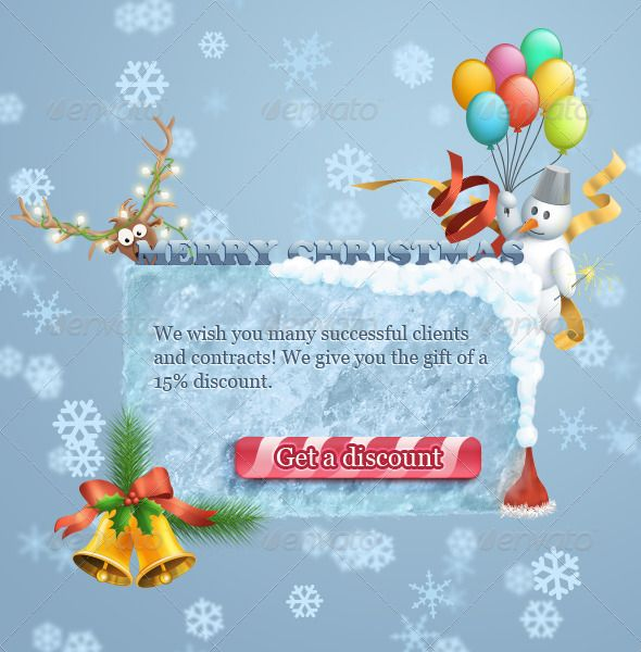 Christmas banner.Text and the button label can be changed. You may also be interested to purchase icons.