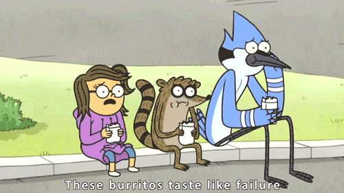 """You know this taste all too well.   20 Reasons Your Life Is Just Like """"Regular Show"""" Like I need this list."""