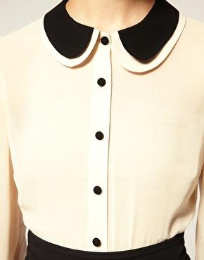 Double Peterpan Collar Blouse