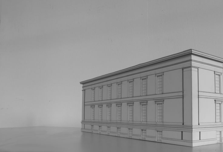 KARL FRIEDRICH SCHINKEL ALTES BUILDING - LASER CUT FACADE MODEL