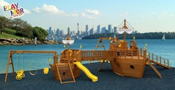 fleet: Pirates Ships, Children Plays, Backyard Plays, Amazing Playhouses, Baby Pirates, Wooden Boats, Ships Playset, Plays Sets, Boats Playset
