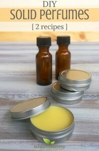Solid Perfume Recipes with Essential Oils (2 recipes for you to enjoy)!- Scratch Mommy