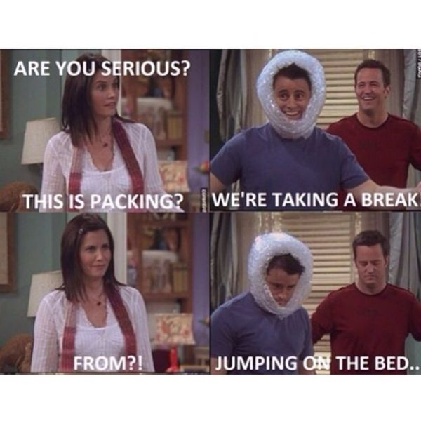 Monica, Joey and Chandler Friends tv show Funny quotes