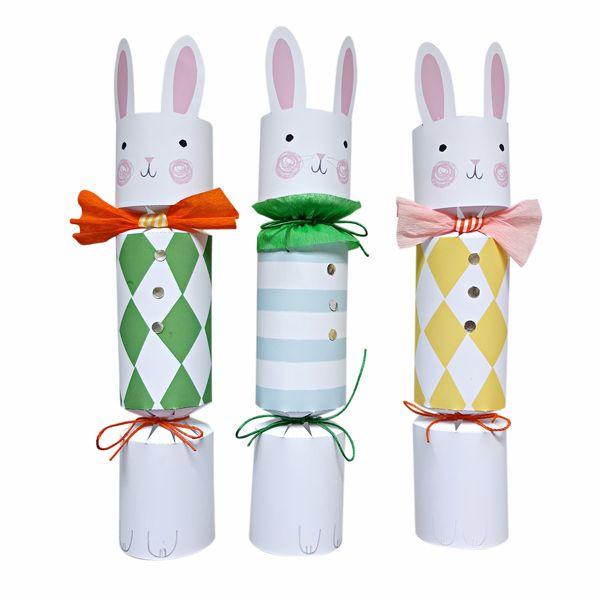Funny bunny DIY cracker set - easter ideas
