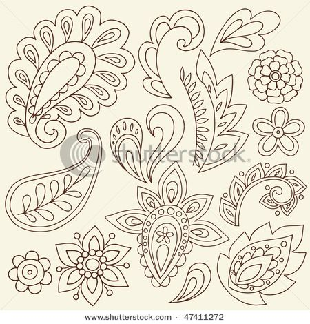 paisley designs for doodles, but could be great quilting designs.