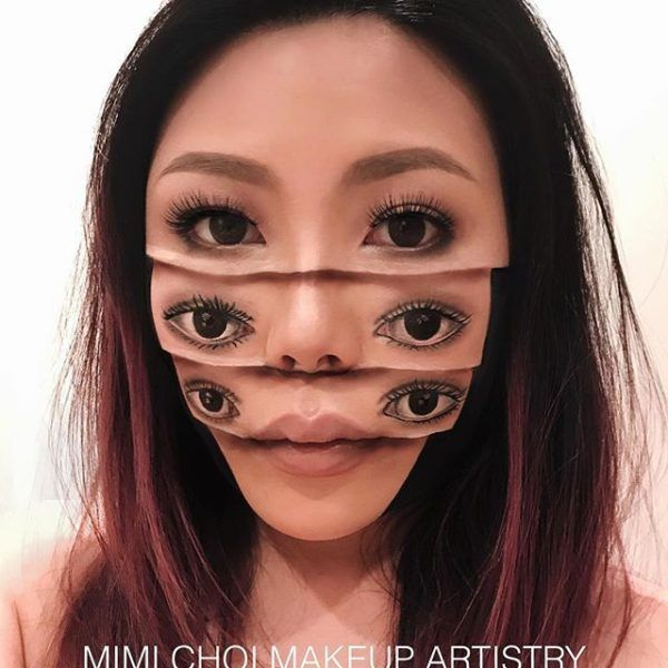 Mimi Choi Makes Mind Bending Face Illusions In Makeup