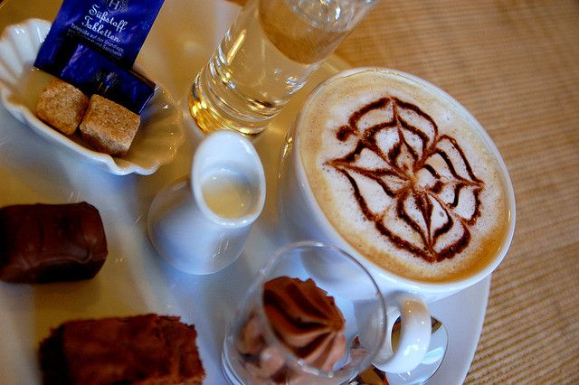 Cappuccino abstract design