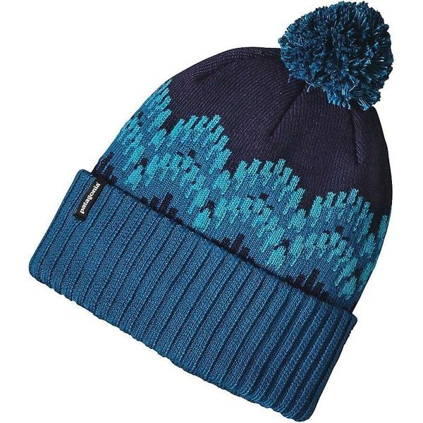 Patagonia Women's Powder Town Beanie ($39) ❤ liked on Polyvore featuring accessories, hats, pom pom hat, patagonia, beanie cap, pom beanie and patagonia beanie