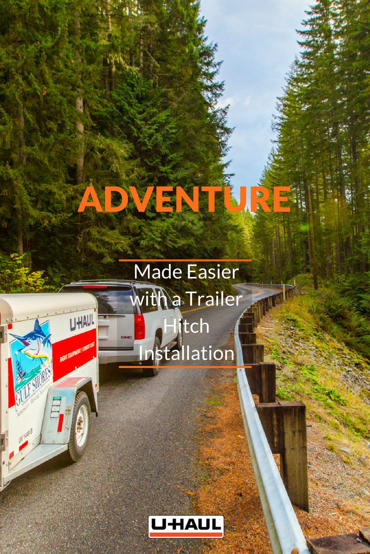 Make your adventures possible and easy to achieve with a hitch installation. A hitch enables your a your car, truck or SUV to towing capabilities a trailer, boat, RV, camper and more with you on a road trip. Whether you're moving, hauling, biking, boating, camping - or doing it all - it all starts with a U-Haul trailer hitch. I On the Road