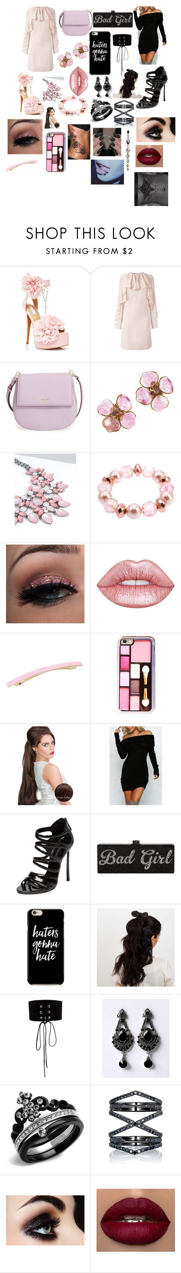 """""""Good girl vs Bad girl"""" by shirowland ❤ liked on Polyvore featuring Sugarbaby, Giambattista Valli, Kate Spade, Chanel, Charter Club, Lime Crime, L. Erickson, Casadei, Johnny Loves Rosie and Manokhi"""