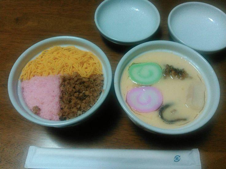 長崎 吉宗 蒸し寿司と茶碗蒸し