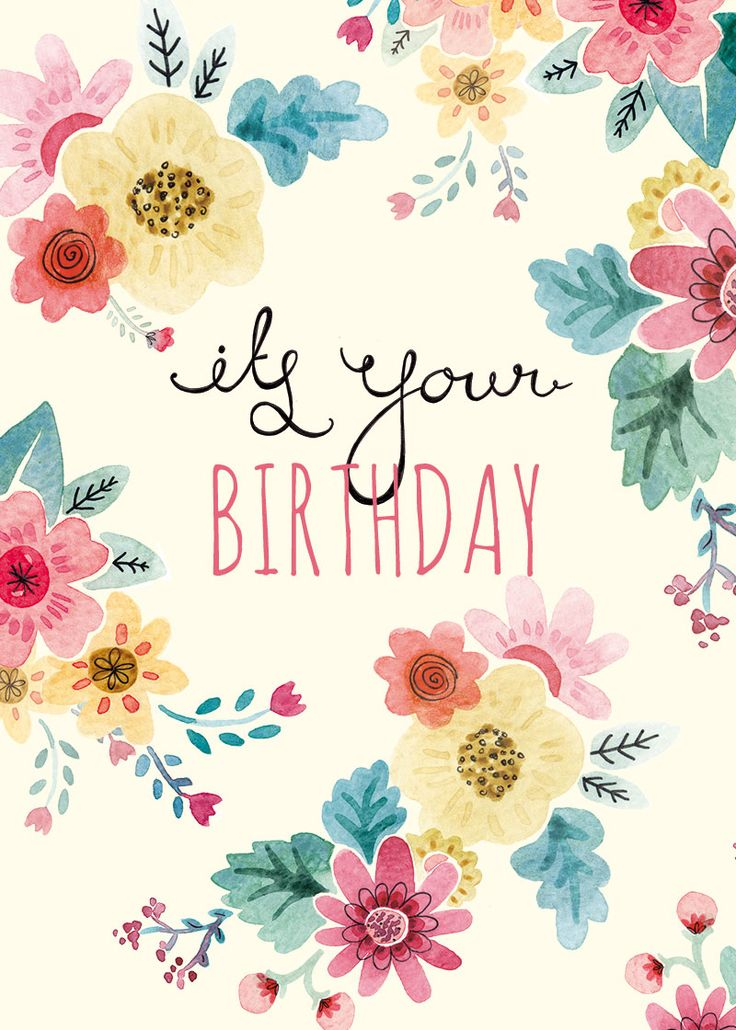 17 Best ideas about Happy Birthday Illustration – Greetings for Birthday Cards