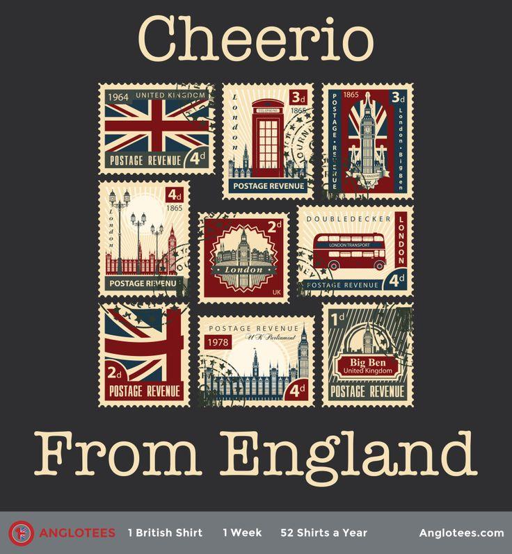 """postcardsfrom England"""" Cheerio luv """" Union jack"""