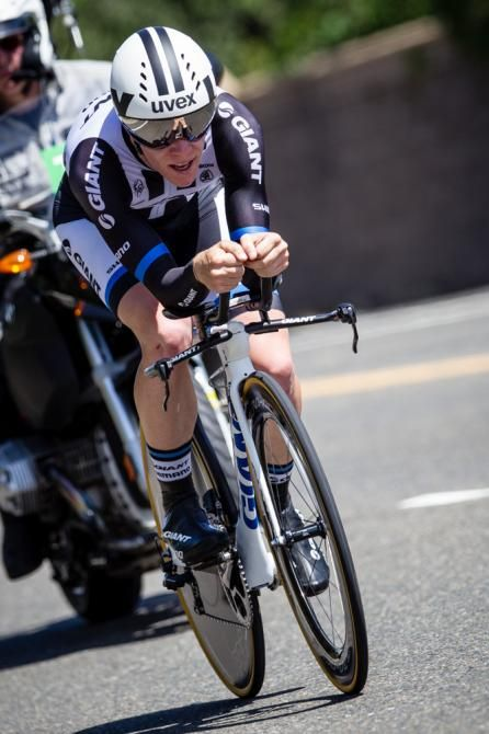 Tour of California 2014  Lawson Craddock on the way to taking over the best young rider jersey