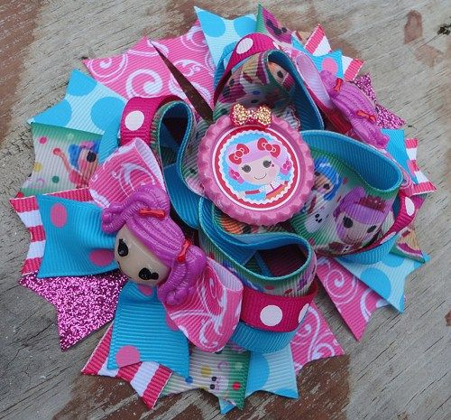 LaLa Loopsy Inspired 5 Inch Stacked Boutique Bow