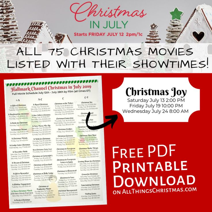 Hallmark Christmas in July *Every Movie* with it's
