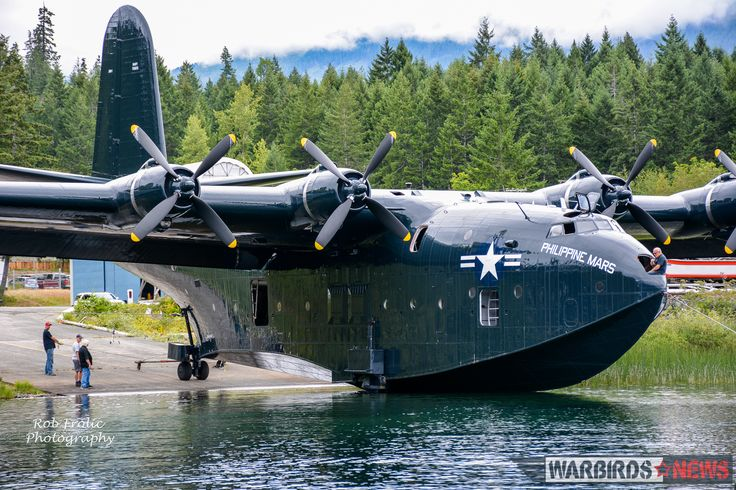 Philippine Mars entering the waters at Sproat Lake for a photo-op with her sister ship, Hawaii Mars. (photo by Rob Frolic)