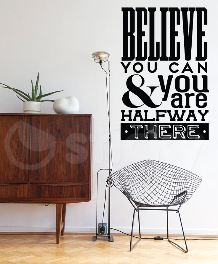 Wall Sticker BELIEVE by Sticky!!!