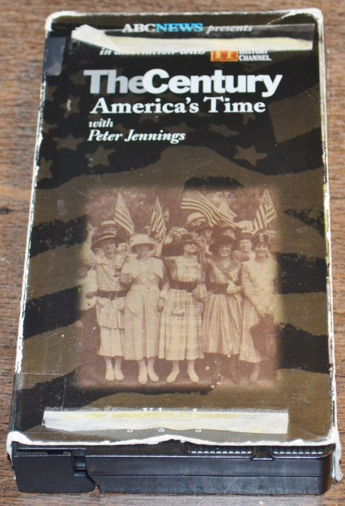 THE CENTURY AMERICA'S TIME With Peter Jennings VHS Volume 1 The Beginning