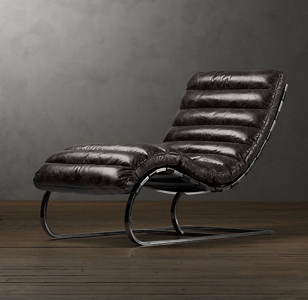 Merveilleux Oviedo Leather Chaise In Glove Leather