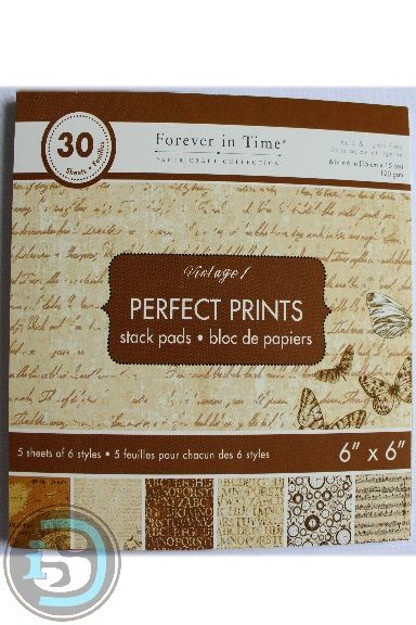 Perfect Prints - Forever in Time paper pad $6.24