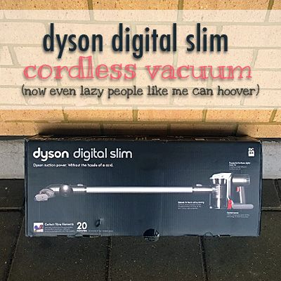 Dyson digital slim cordless vacuum: now even lazy people like me can hoover!