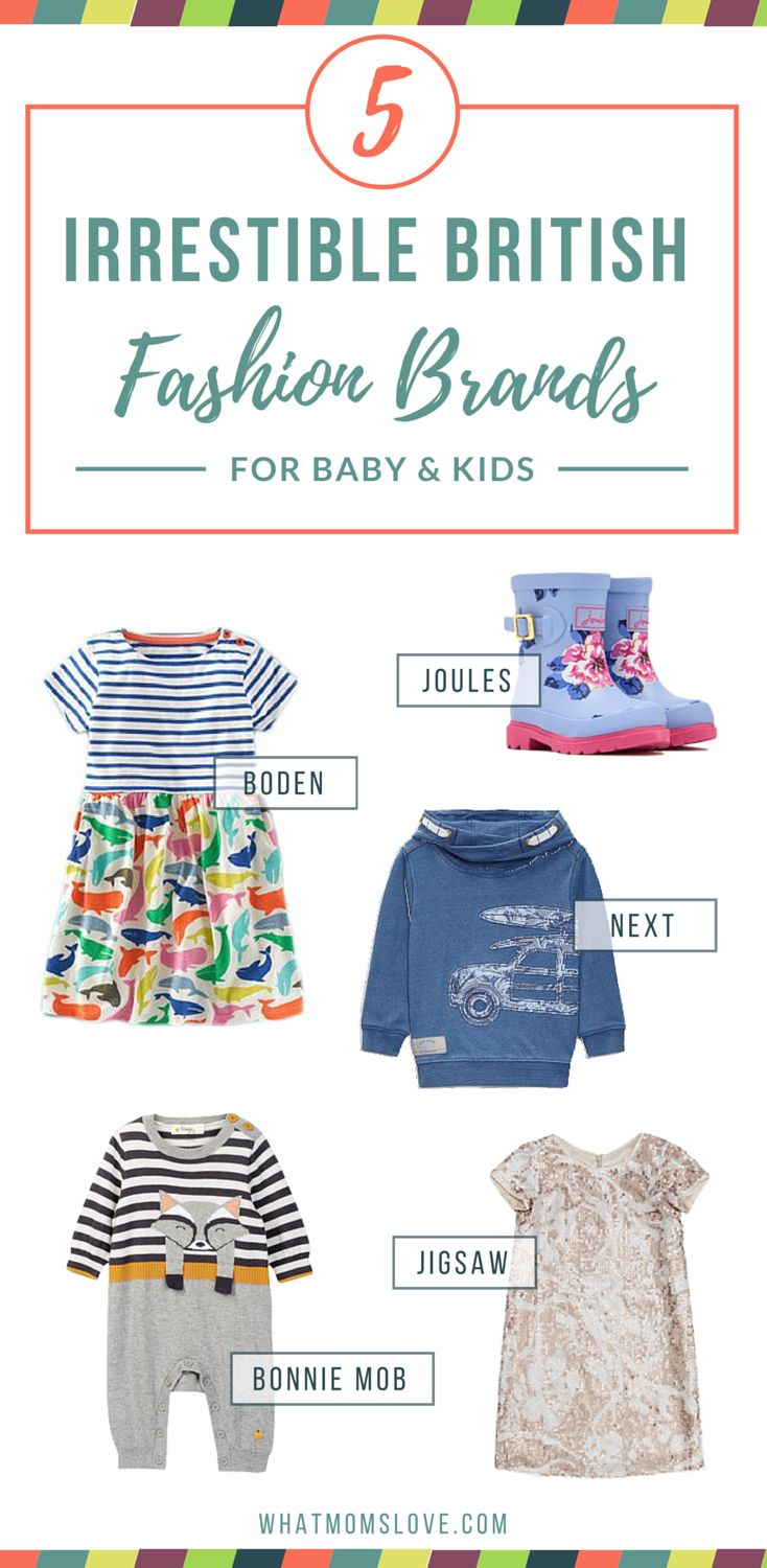 These 5 British clothing brands are just our cup of tea! They offer exceptional designs for babies and kids with cute prints, modern styling and shipping to the US!