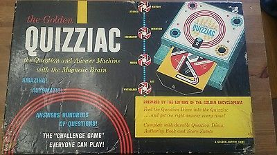The golden capitol quizziac authority 1960 publishing company vintage board game