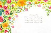 Pintura de acuarela fondo de rosas 2