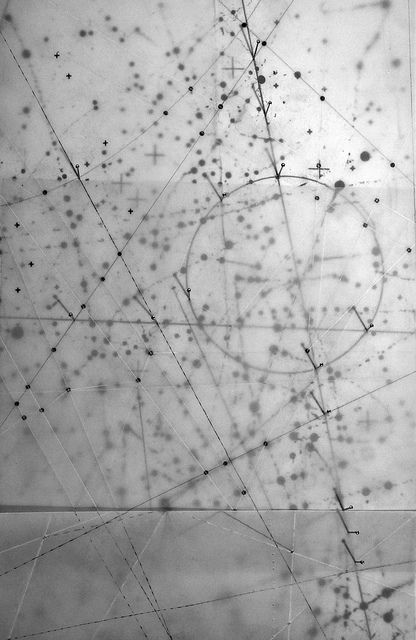 coordinates (2013) graphite pencil, folded tracing paper, steel pins
