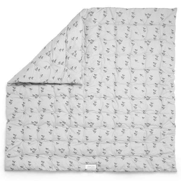Liewood babytæppe, Paper plane grey, 600 kr.