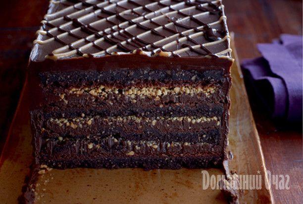 Шоколадно-ореховый торт паве