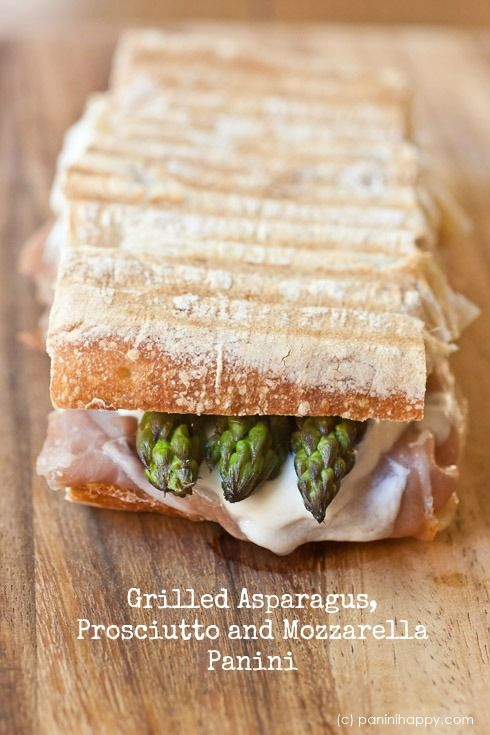 Grilled Asparagus & Prosciutto Panini | Sandwiches | Pinterest ...