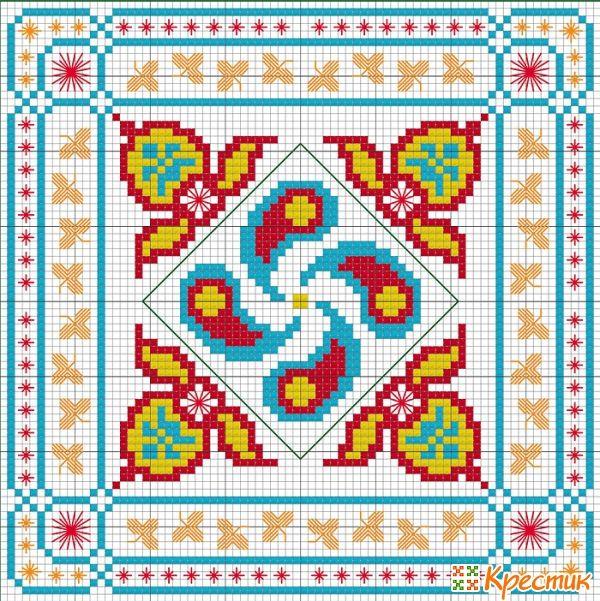 Вышивка крестом схемы индия
