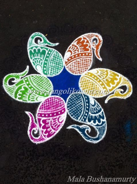 Today Thoughts Of Kolam......... Relationships do not need promises, terms, and conditions. It just needs two wonderful people, one who can trust and one who can understand !! Free hand style rango...