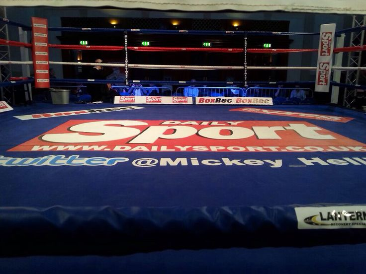 Boxing canvas hand painted for Mickey Helliet Boxing Promotions.