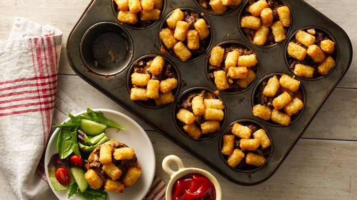 All the delicious, warming flavors of Tater Tot™ hot dish come together in adorable miniature form with this muffin-tin meal.